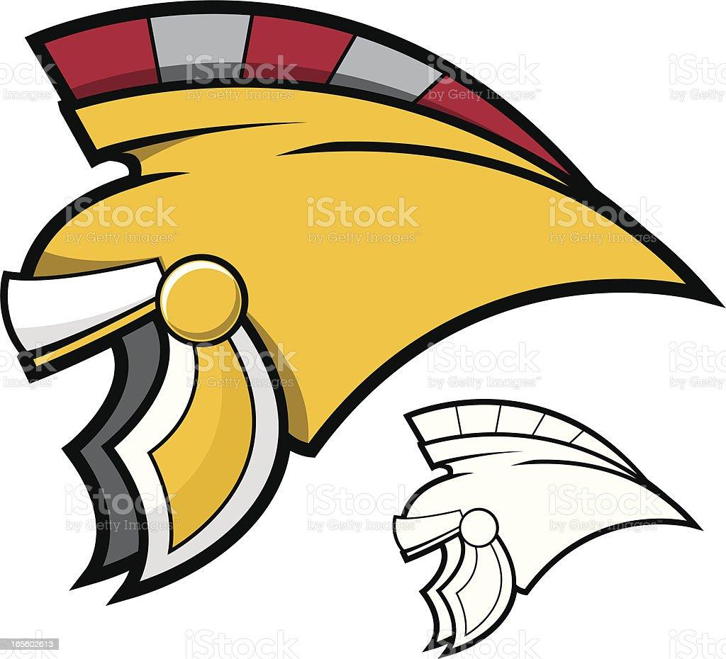 Centurion Helmet royalty-free stock vector art