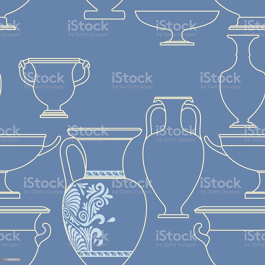 Cerâmica Nacional étnica estilo grego padrão sem emendas vetor e ilustração royalty-free royalty-free