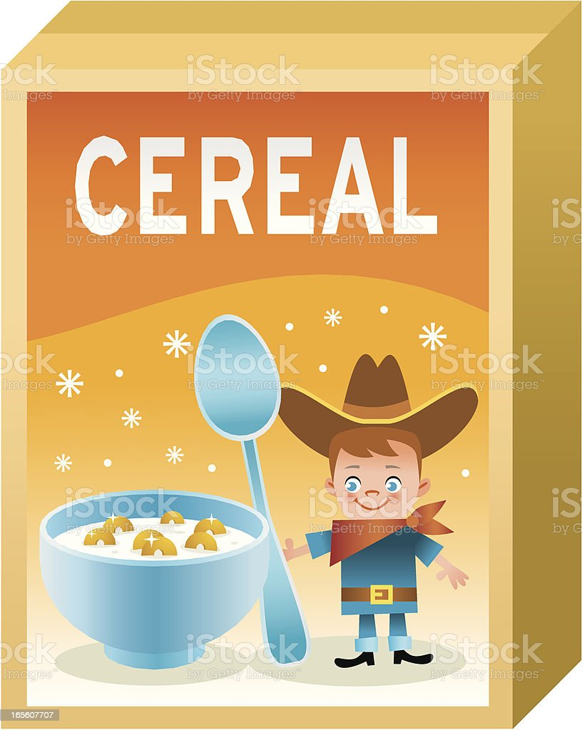 Cereal box royalty-free stock vector art