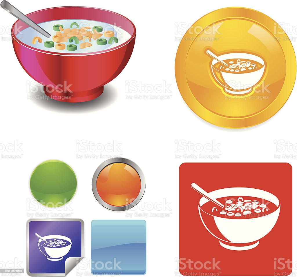 Cereal Breakfast Food vector clipart royalty-free stock vector art