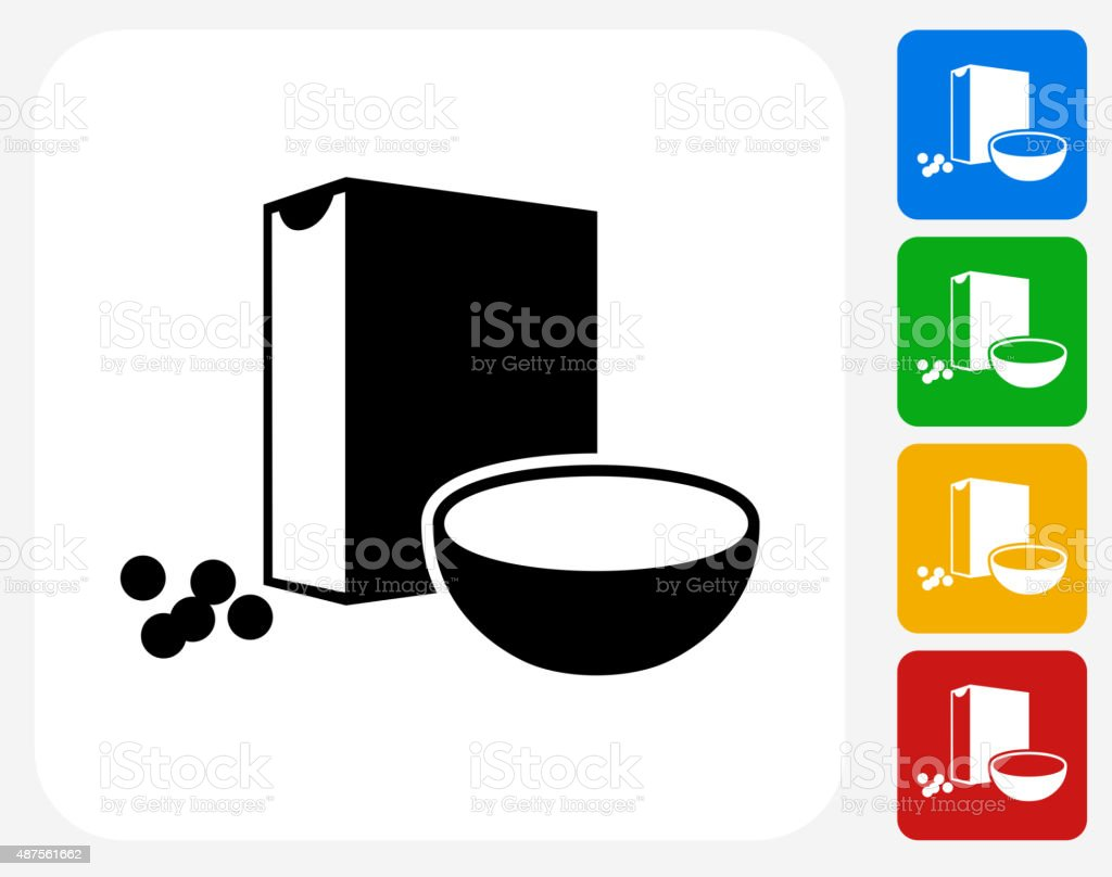 Cereal Icon Flat Graphic Design vector art illustration