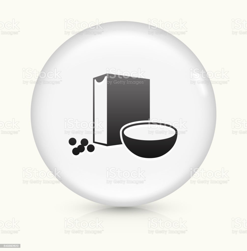 Cereal icon on white round vector button vector art illustration