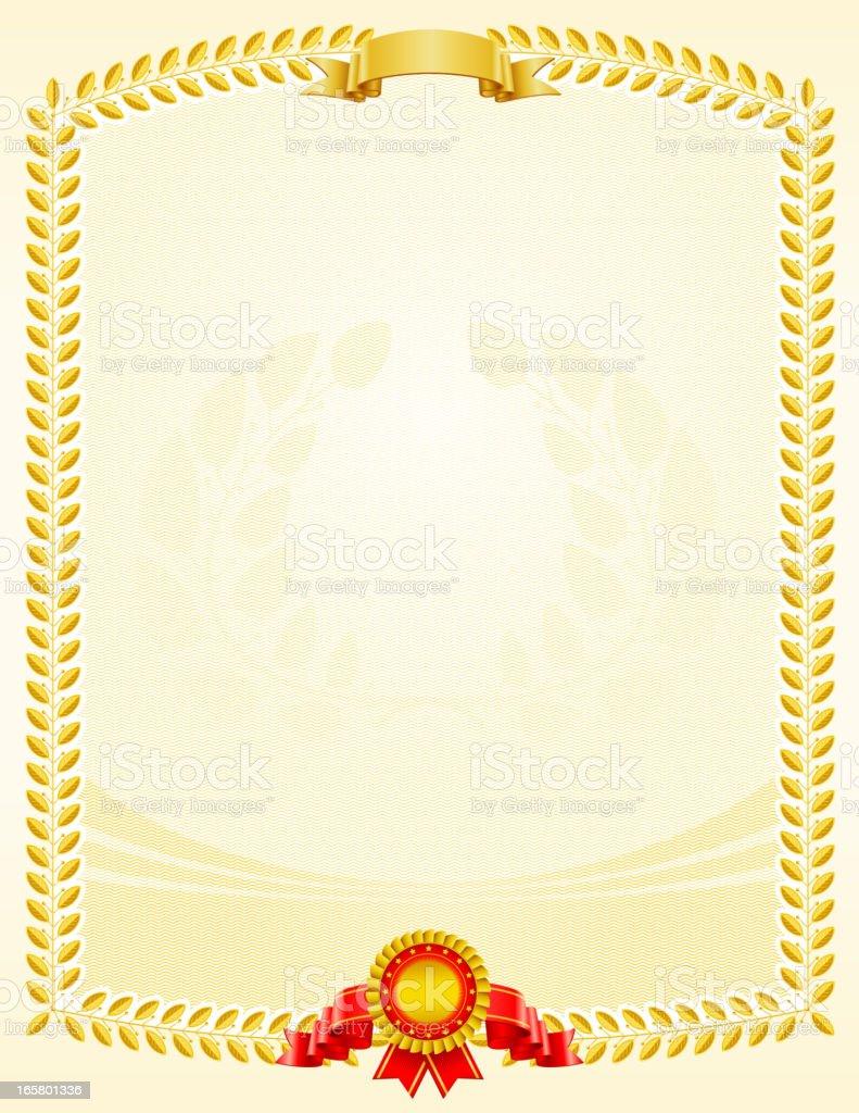 Certificate award royalty-free stock vector art
