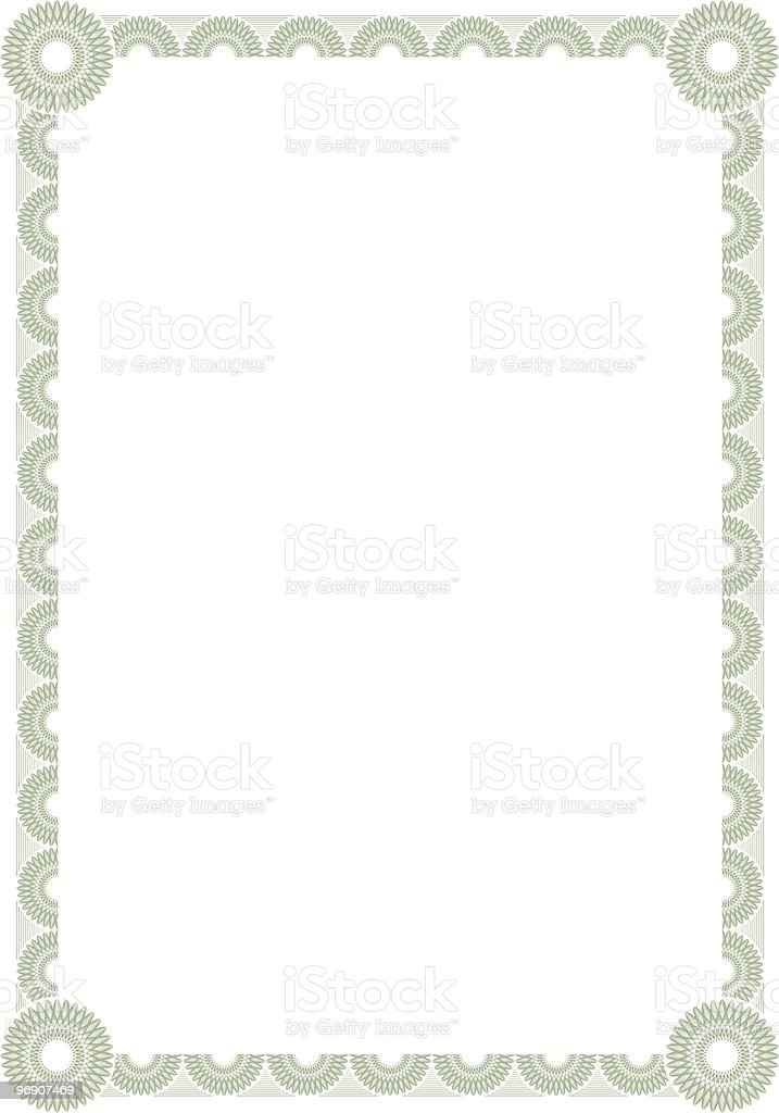 Certificate Background royalty-free stock vector art