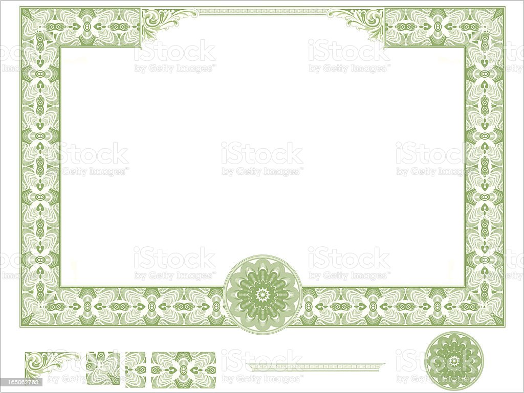 Certificate Border royalty-free stock vector art