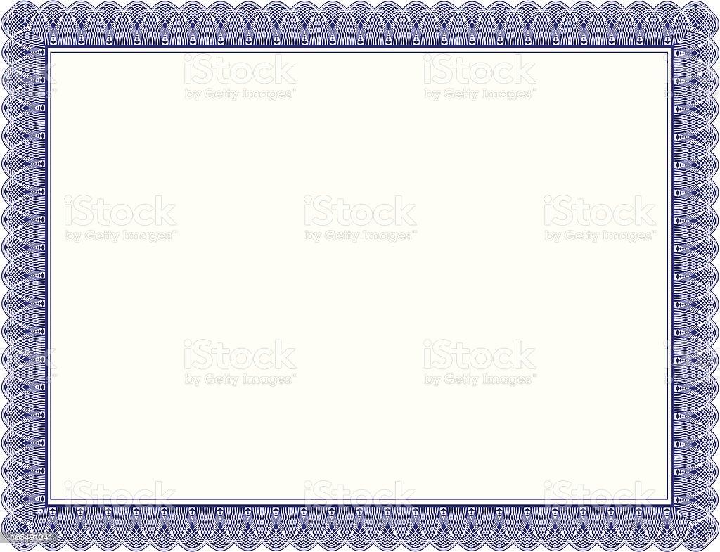 Certificate Border vector art illustration