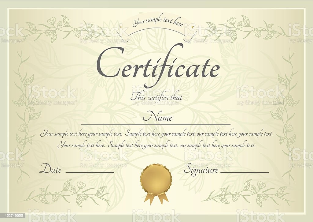 Blue Certificate Border Stock Images Royalty Free Images Vectors