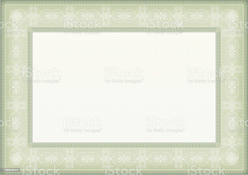 Certificate frame royalty-free stock vector art