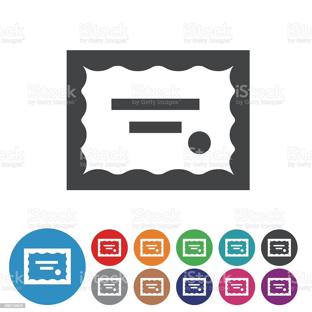 Certificate Icons - Graphic Icon Series vector art illustration