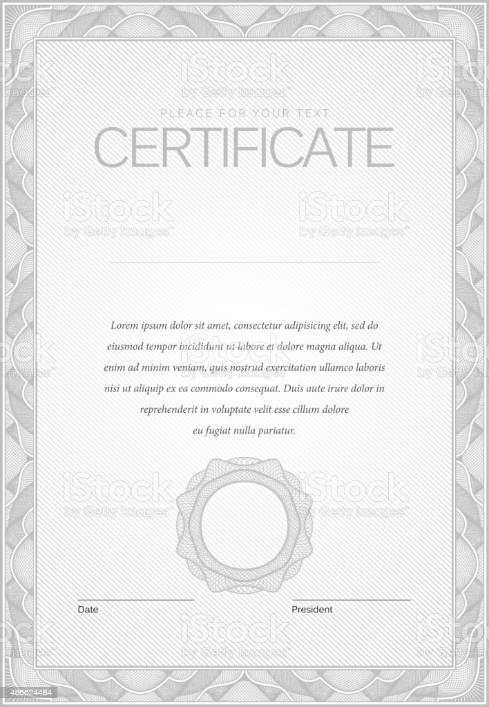 Certificate. Modern Template diplomas, currency. vector art illustration