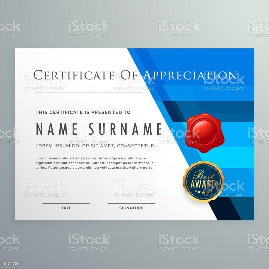 certificate of appreciation modern template design