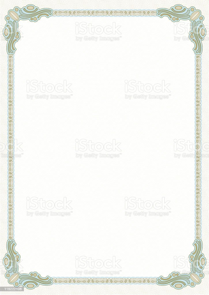 Certificate template royalty-free stock vector art