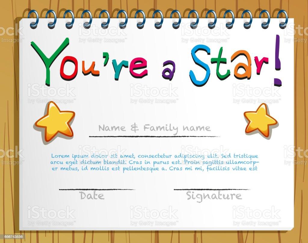 Star student certificate template pertamini star student certificate template alramifo Image collections