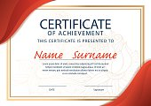 certificate template,diploma ,A4 size ,vector
