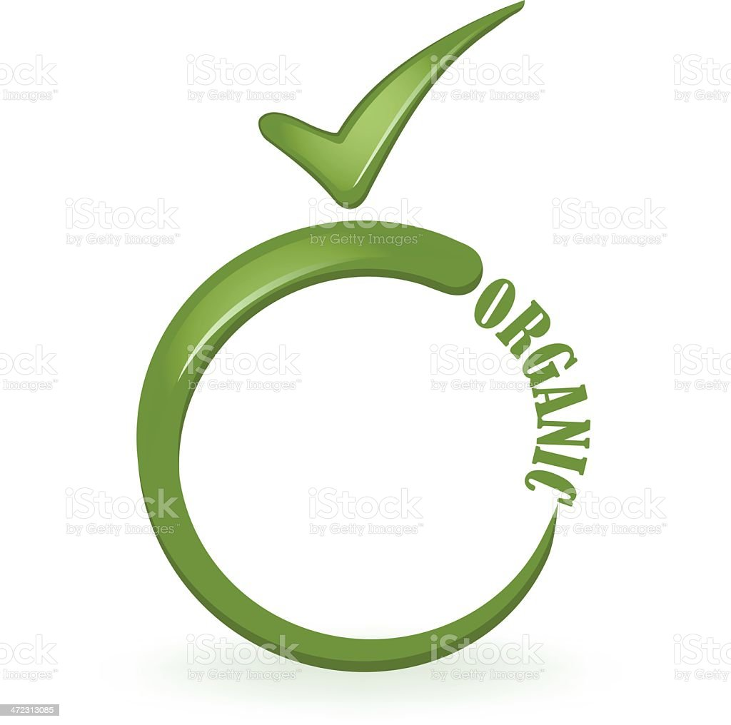Certified Organic royalty-free stock vector art