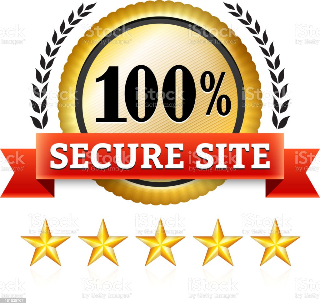 Certified Secure Badge royalty-free stock vector art