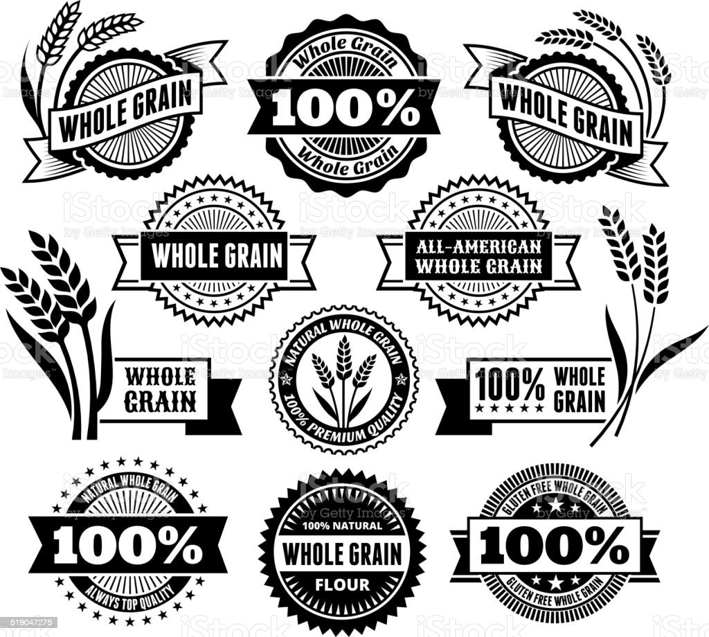 Certified Whole Grain Signs & Banners vector art illustration