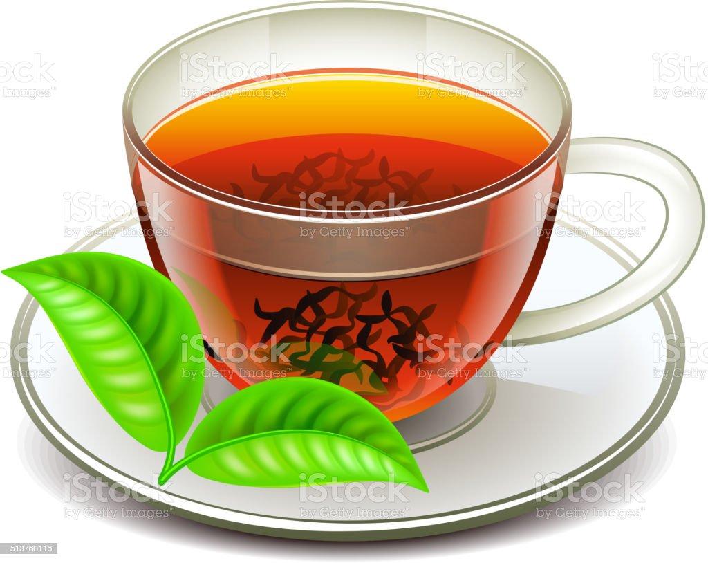 Ceylon tea isolated on white vector vector art illustration