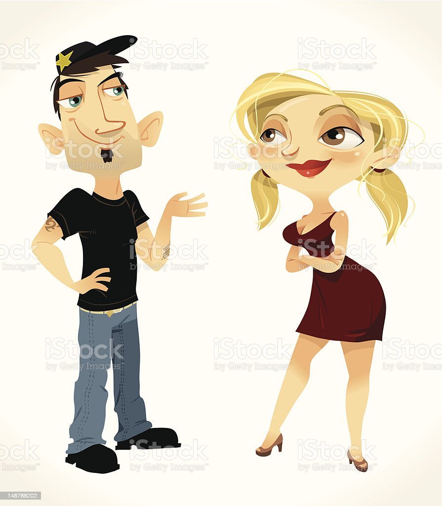 Chad & Amy royalty-free stock vector art