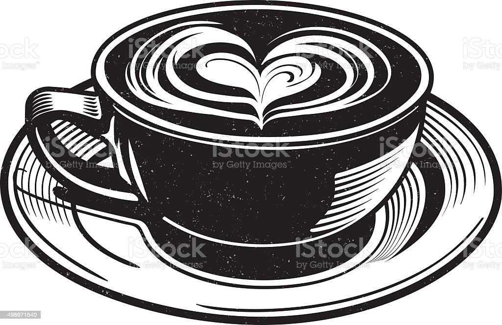 Chai Latte Vector vector art illustration