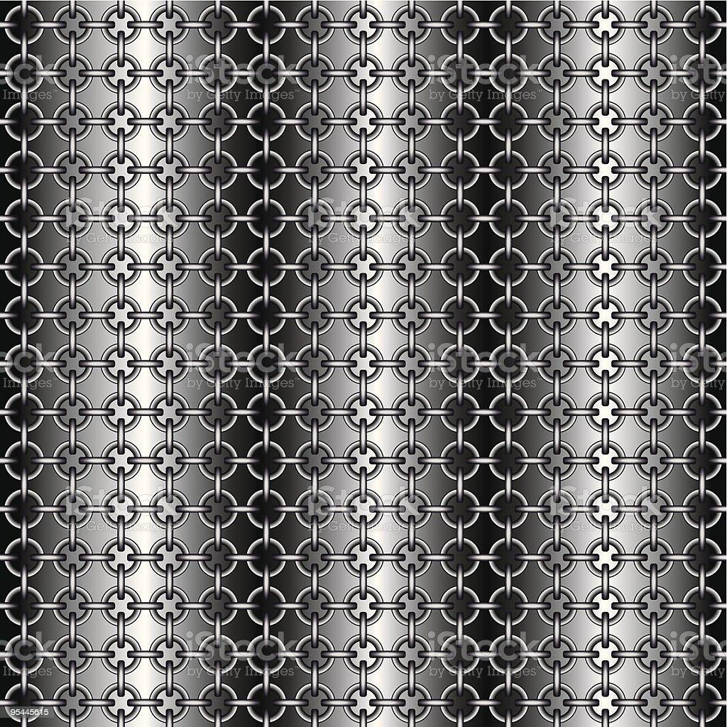 Chain armour vector art illustration