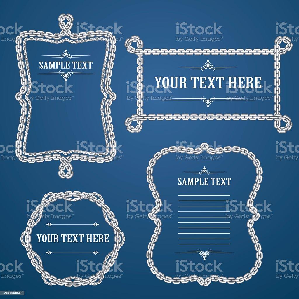 Chain border royalty-free stock vector art