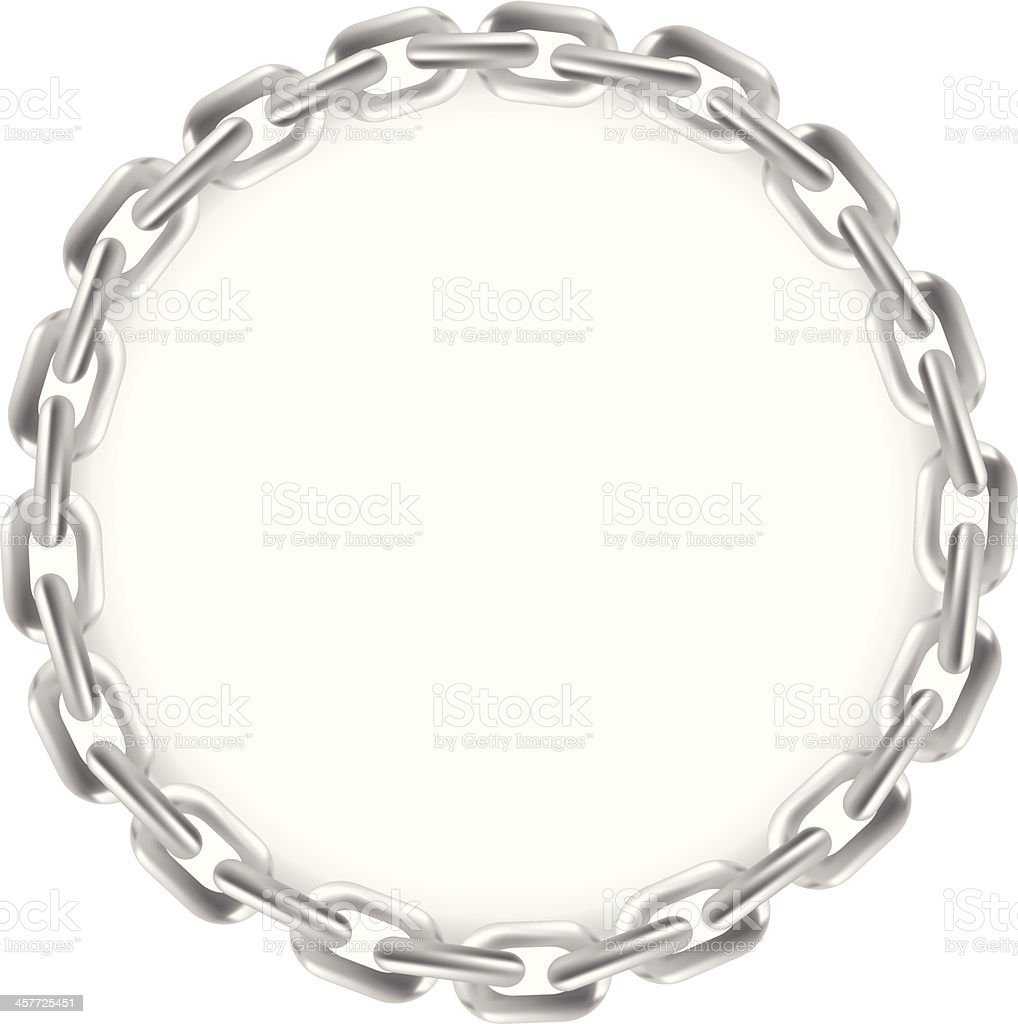 Chain Circle Frame royalty-free stock vector art