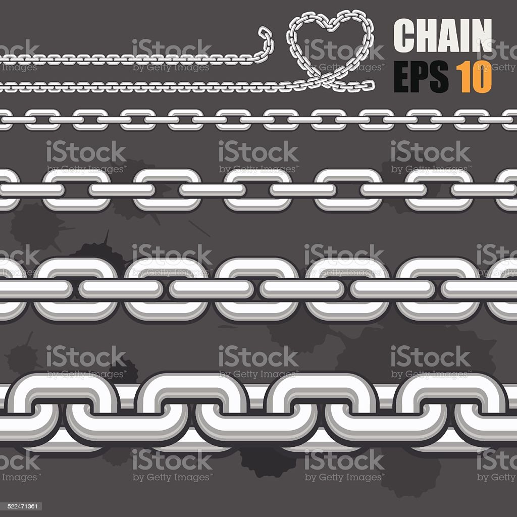 Chain collection royalty-free stock vector art