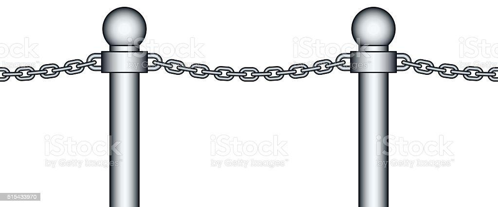 Chain fence vector art illustration