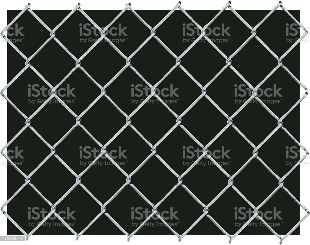 Chain Link Fence Background royalty-free stock vector art