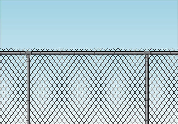 Chainlink fence clip art vector images illustrations