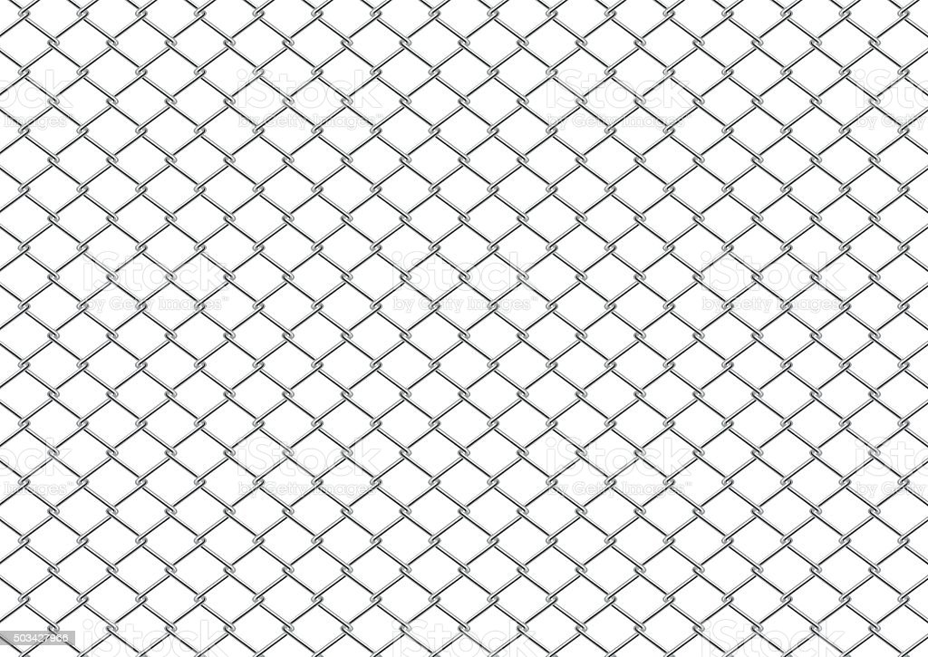Chain Link Fence vector art illustration