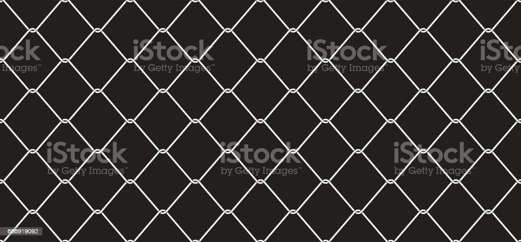 Chain link Fence Wire Mesh the cage metal net Seamless Pattern / wallpaper / background vector art illustration