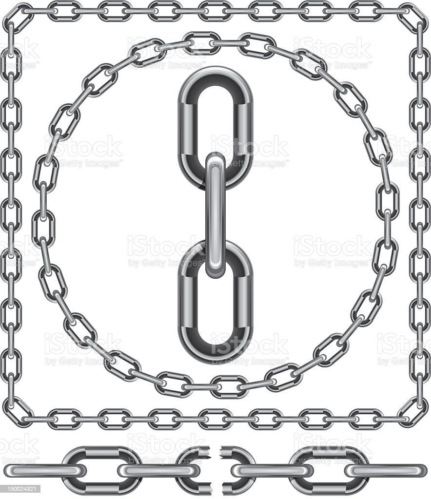 Chain link vector art illustration