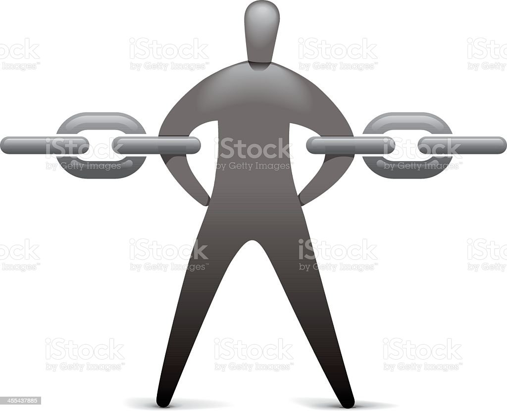 Chain Linker royalty-free stock vector art