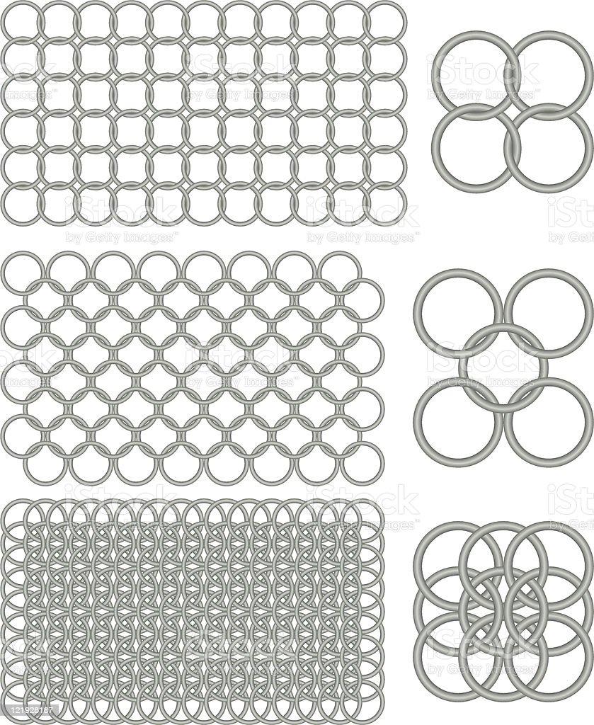 Chain Mail vector art illustration