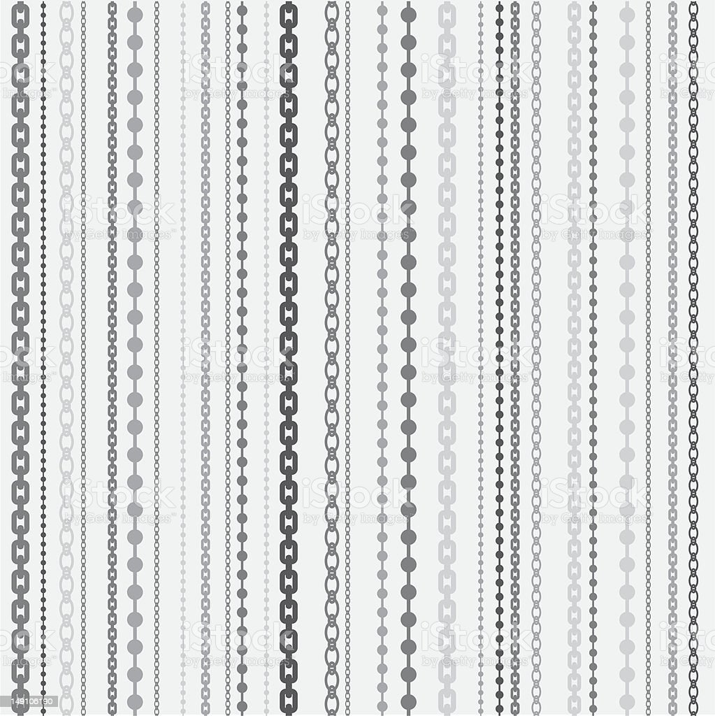 chain pattern vector art illustration