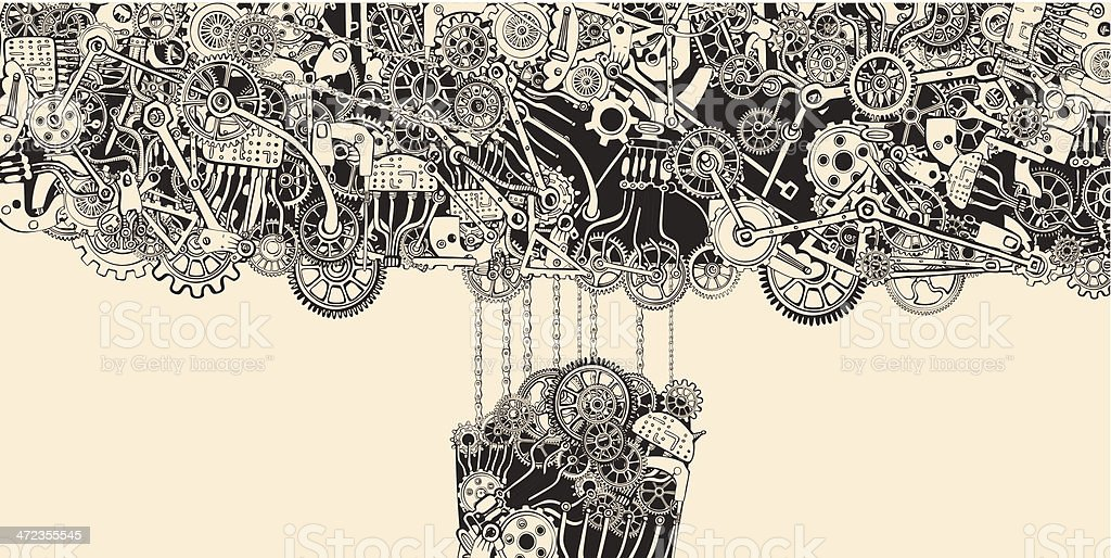 Chain Reaction. royalty-free stock vector art