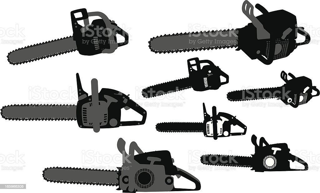 Chain Saw - Power Tool vector art illustration