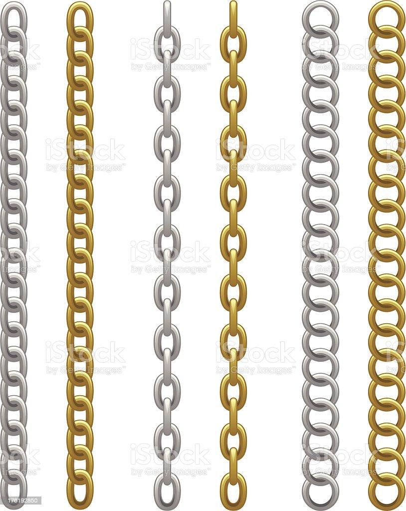Chain set vector art illustration