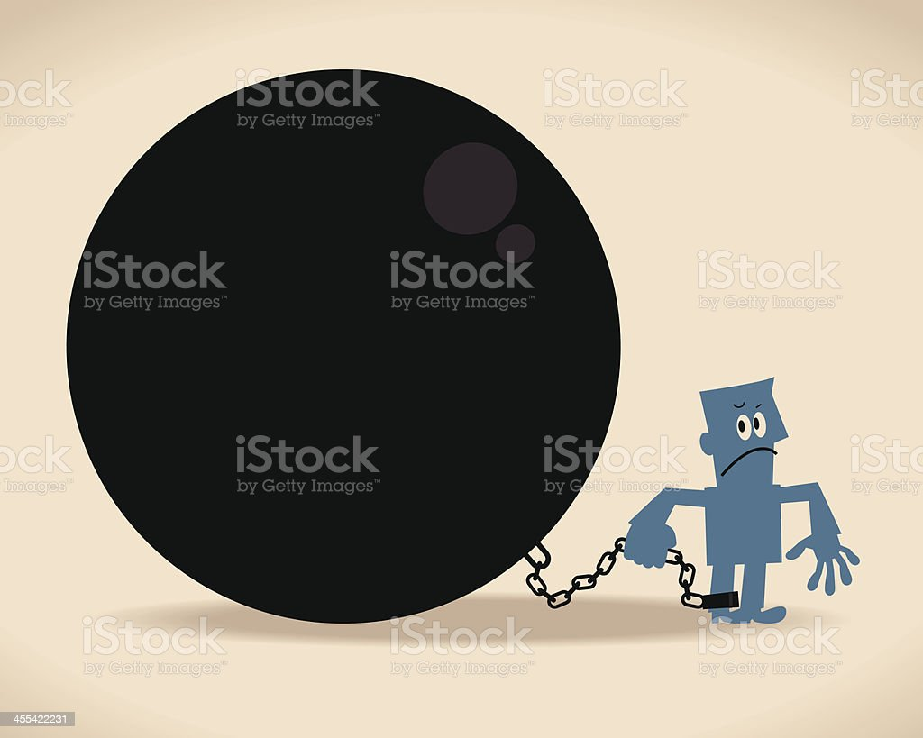 Chained vector art illustration
