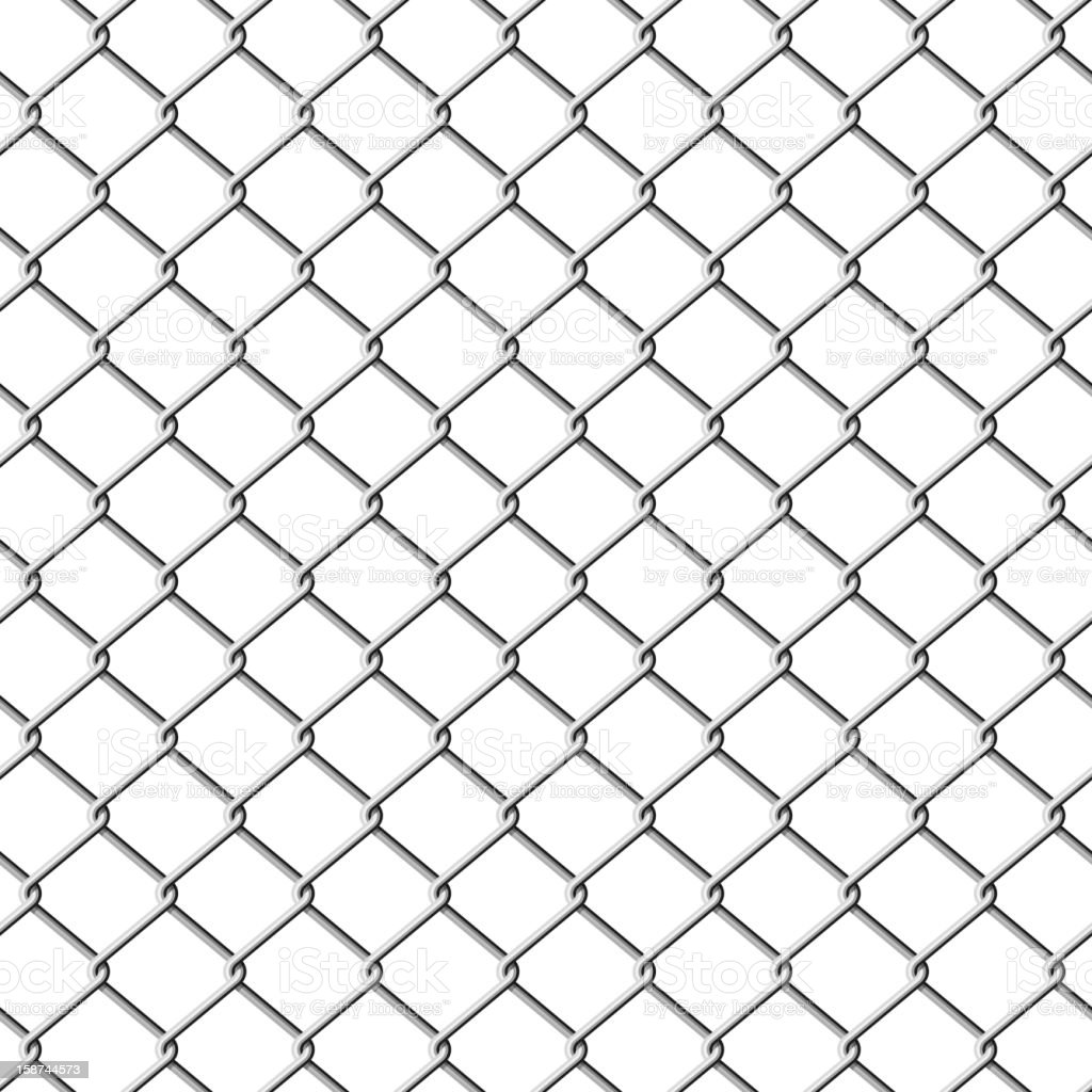 Chainlink fence. Seamless. vector art illustration