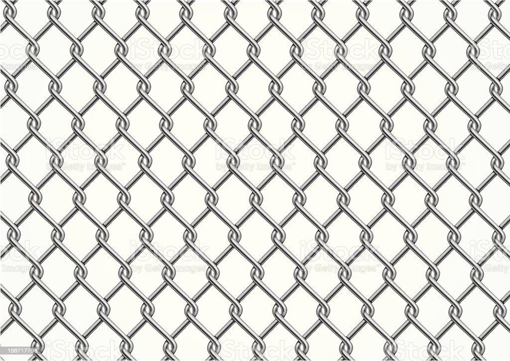 Chainlink fence vector art illustration