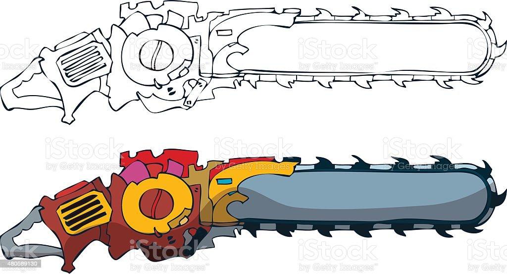 Gas Chain Saw Clip Art