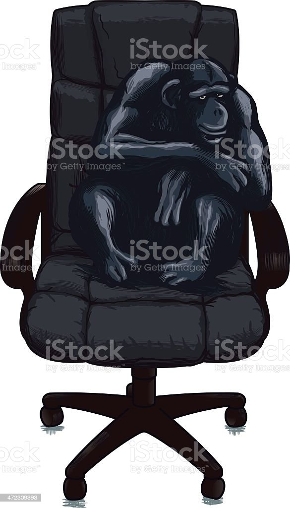 Chair ape royalty-free stock vector art