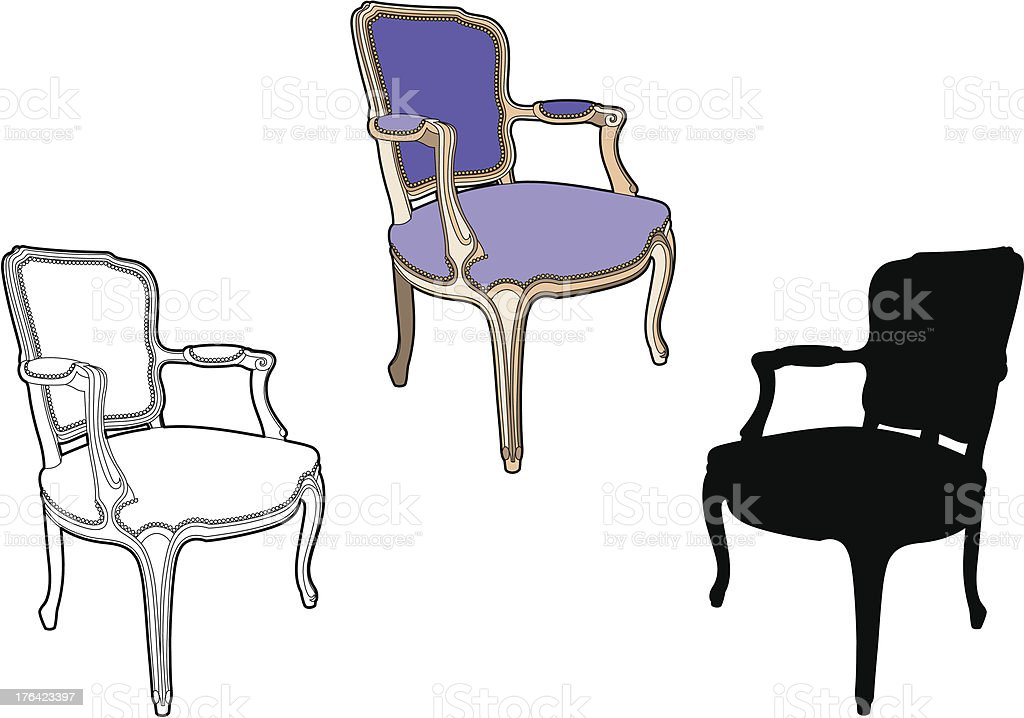 Chair purple style royalty-free stock vector art