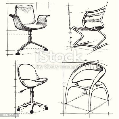 Chair Sketch chair sketch 2 stock vector art 106357100 | istock