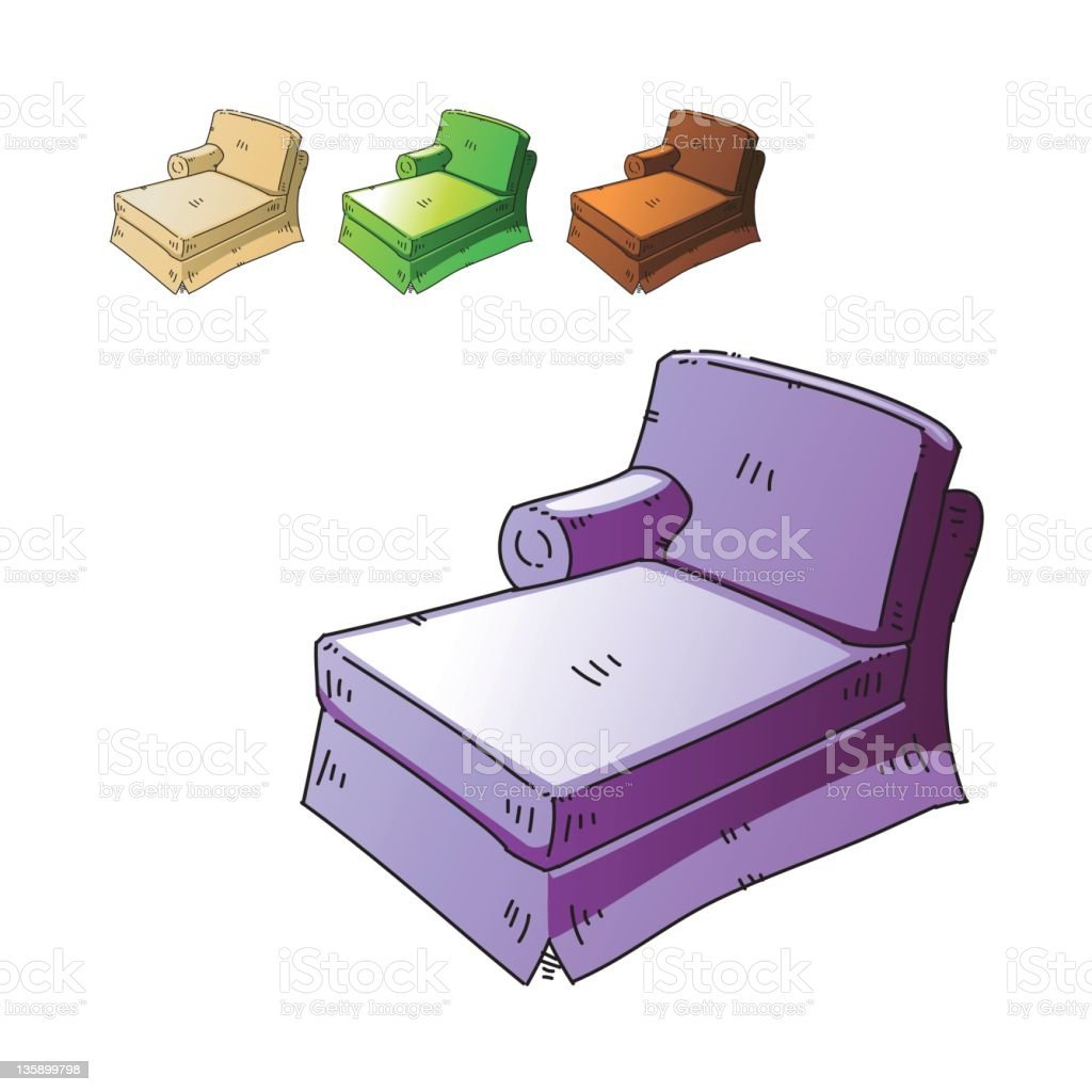 Chaise royalty-free stock vector art