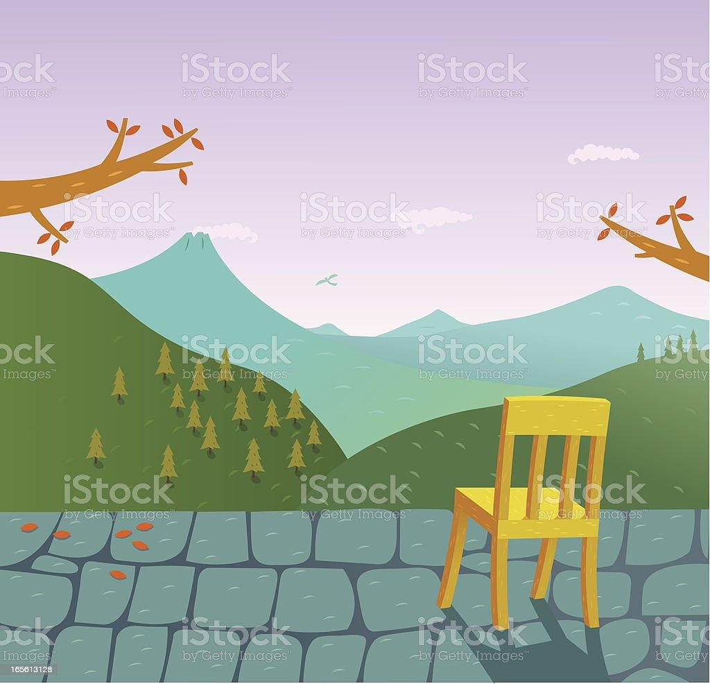 Chair View vector art illustration