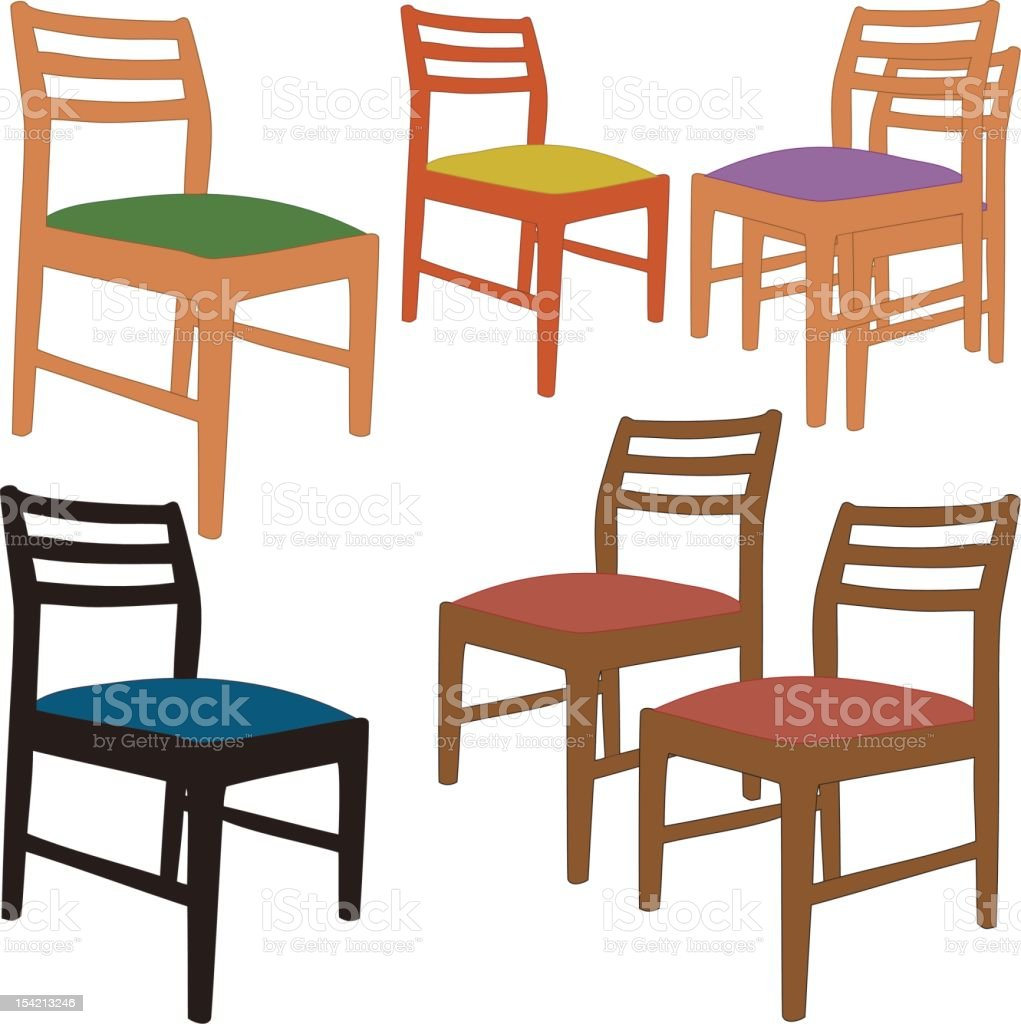 Chairs (Vector) vector art illustration